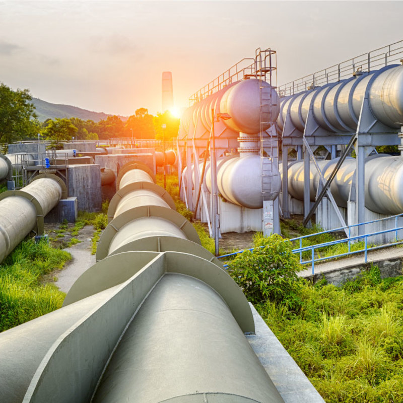 Image of pipes in remote area