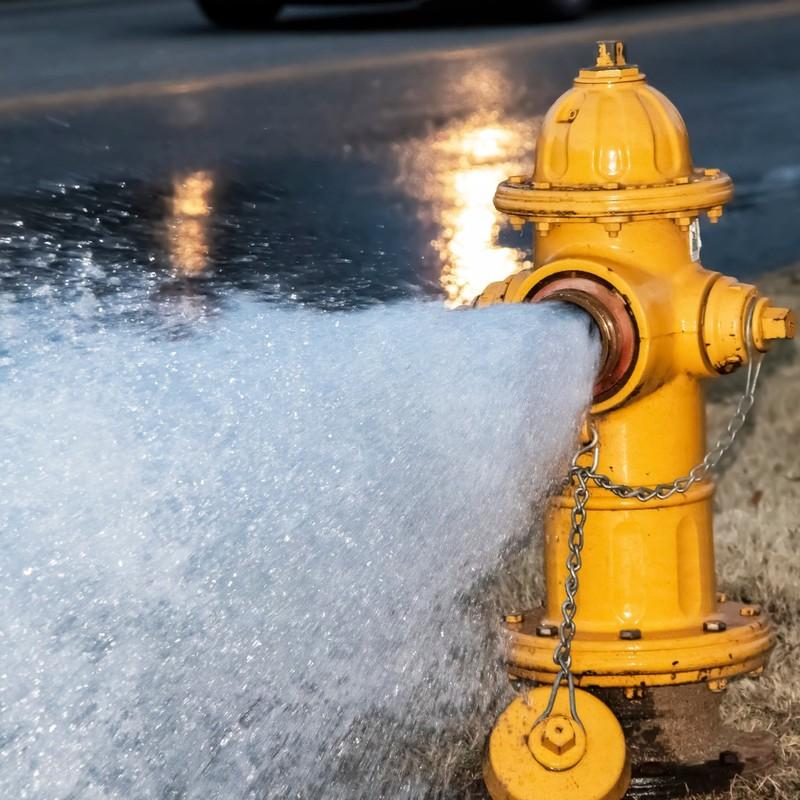 Image of burst fire hydrant