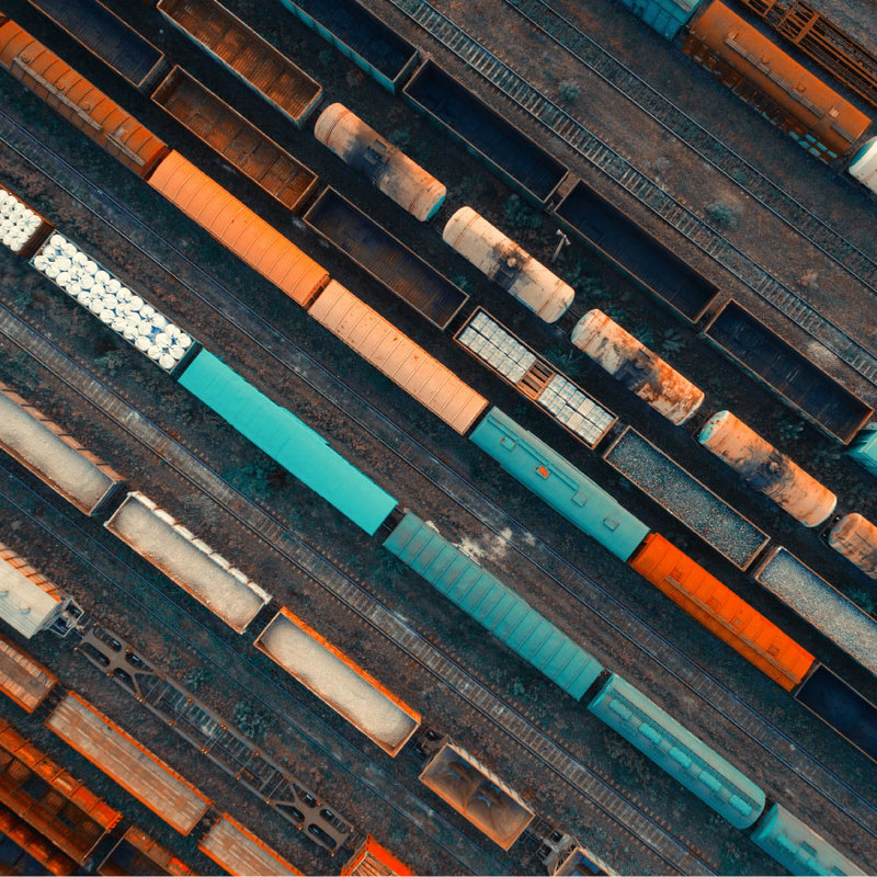 Railway from above